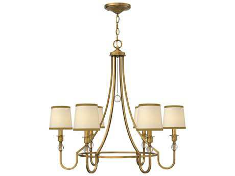 Hinkley Lighting Morgan Brushed Bronze Six-Light 30 Wide Chandelier HY4876BR