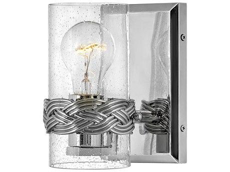 Hinkley Lighting Nevis Polished Nickel Glass Vanity Light