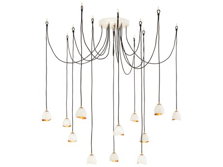 Hinkley Lighting Nula Shell White 12-Light 19'' Wide Pendant Light HY35908SHW