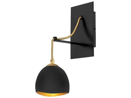 Hinkley Lighting Nula Shell Black / Gold Leaf Wall Sconce