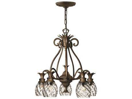 Hinkley Lighting Plantation Pearl Bronze Five-Light 22 Wide Chandelier HY4885PZ