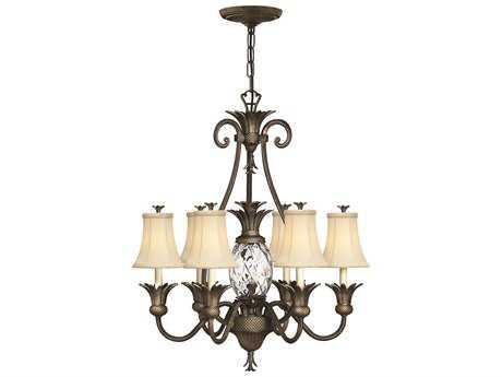 Hinkley Lighting Plantation Pearl Bronze Seven-Light 28 Wide Chandelier