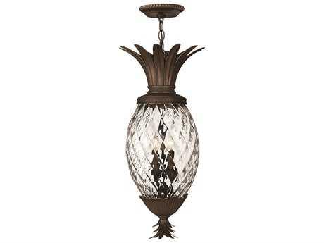 Hinkley Lighting Plantation Copper Bronze Four-Light Outdoor Pendant Light