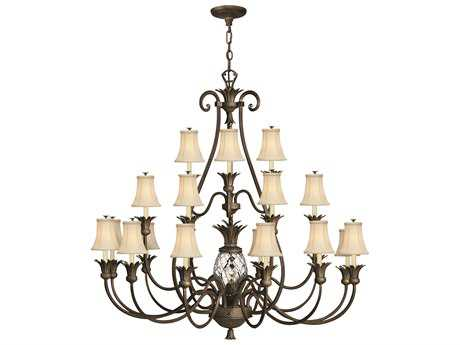 Hinkley Lighting Plantation Pearl Bronze 22-Light 56'' Wide Chandelier HY4889PZ