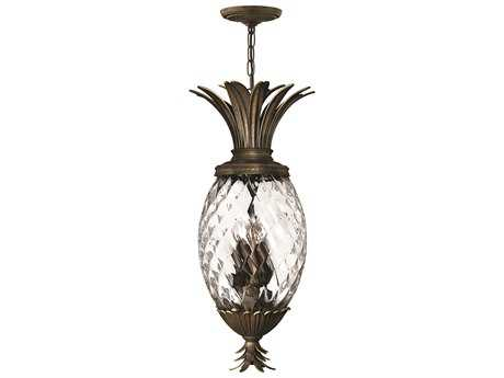 Hinkley Lighting Plantation Pearl Bronze Four-Light Pendant Light HY2222PZ