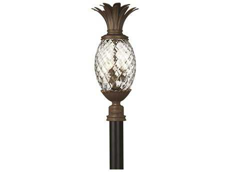 Hinkley Lighting Plantation Copper Bronze Three-Light Outdoor Post Light HY2221CB