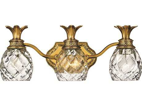 Hinkley Lighting Plantation Burnished Brass Three-Light Vanity Light