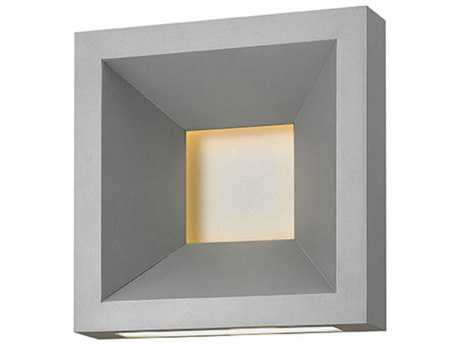 Hinkley Lighting Plaza Titanium 10'' Wide LED Outdoor Wall Sconce