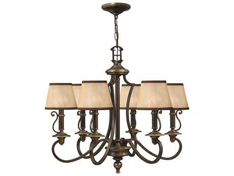 Hinkley Lighting Plymouth Olde Bronze Six-Light 27.75 Wide Chandelier HY4246OB