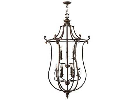 Hinkley Lighting Plymouth Olde Bronze Nine-Light 30 Wide Grand Chandelier HY4259OB