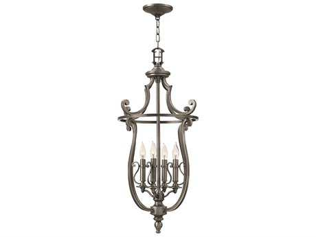 Hinkley Lighting Plymouth Polished Antique Nickel Four-Light Mini-Chandelier HY4254PL