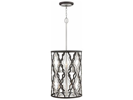 Hinkley Lighting Portico Glacial Gold Six-Light 14'' Wide Pendent Light