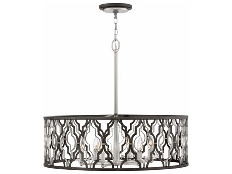 Hinkley Lighting Portico Glacial Gold Six-Light 28'' Pendent Light