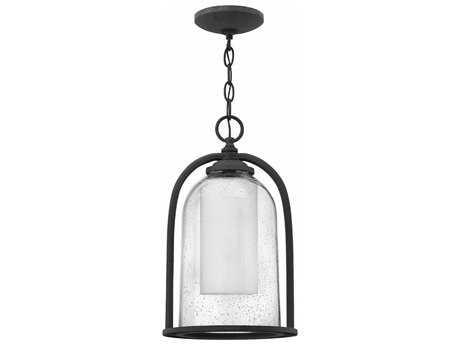 Hinkley Lighting Quincy Aged Zinc 9.25'' Wide LED Outdoor Pendant Light HY2612DZLED