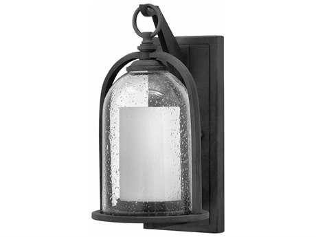 Hinkley Lighting Quincy Aged Zinc 6.75'' Wide LED Outdoor Wall Sconce HY2614DZLED