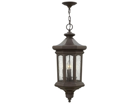 Hinkley Lighting Raley Oil Rubbed Bronze Four-Light 12'' Wide LED Outdoor Hanging Lighting