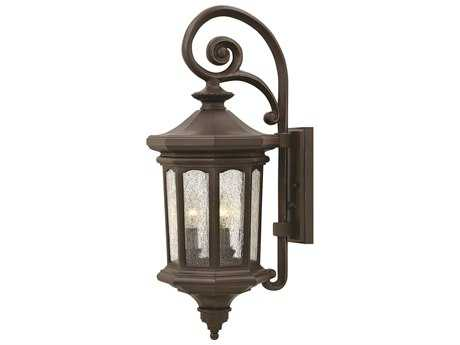 Hinkley Lighting Raley Oil Rubbed Bronze Three-Light Outdoor Wall Light