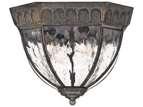 Hinkley Lighting Regal Black Granite Four-Light Outdoor Ceiling Light HY1713BG