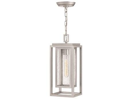 Hinkley Lighting Republic Satin Nickel 7'' Wide Outdoor Hanging Lighting HY1002SI