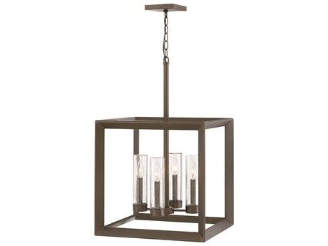 Hinkley Lighting Rhodes Warm Bronze Four-Light 18'' Wide Outdoor Hanging Lighting HY29304WB