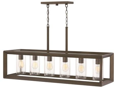 Hinkley Lighting Rhodes Warm Bronze Six-Light 42'' Wide Outdoor Hanging Light