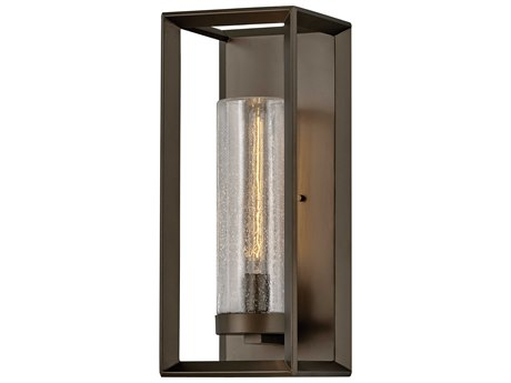 Hinkley Lighting Rhodes Warm Bronze Glass Outdoor Wall Light