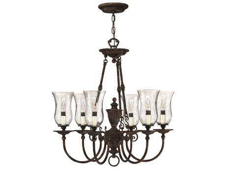 Hinkley Lighting Rockford Forum Bronze Six-Light 26.75 Wide Chandelier HY4626FB