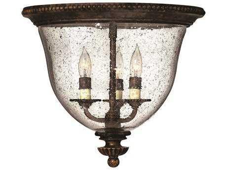 Hinkley Lighting Rockford Forum Bronze Three-Light Flush Mount Light HY3712FB