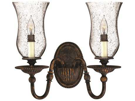 Hinkley Lighting Rockford Forum Bronze Two-Light Wall Sconce HY4622FB