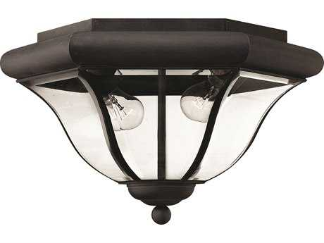 Hinkley Lighting San Clemente Museum Black Two-Light Outdoor Ceiling Light HY2443MB