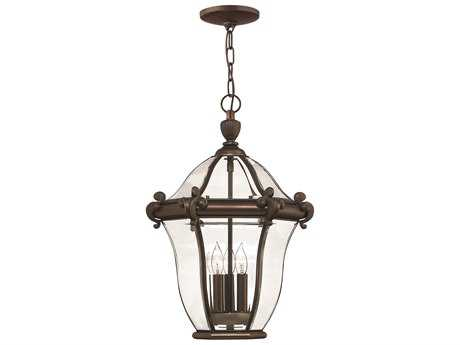 Hinkley Lighting San Clemente Copper Bronze Three-Light Outdoor Pendant Light