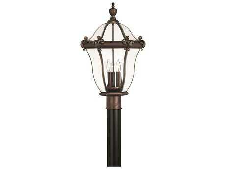 Hinkley Lighting San Clemente Copper Bronze Three-Light Outdoor Post Light HY2441CB