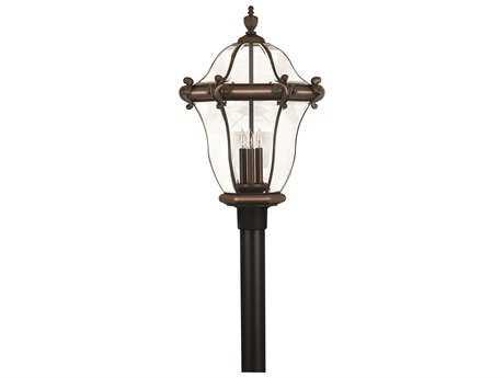 Hinkley Lighting San Clemente Copper Bronze Three-Light Outdoor Post Light HY2447CB