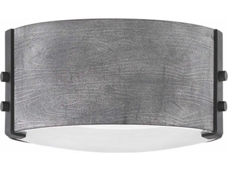 Hinkley Lighting Sawyer Aged Zinc Two-Light 9'' Wide Outdoor Ceiling Light HY29201DZ
