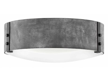 Hinkley Lighting Sawyer Aged Zinc Three-Light 15'' Wide Outdoor Ceiling Light HY29203DZ