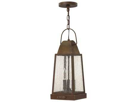 Hinkley Lighting Sedgwick Sienna Three-Light Outdoor Pendant Light HY1772SN
