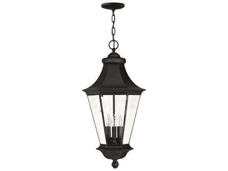 Hinkley Lighting Senator Black Three-Light Outdoor Pendant Light