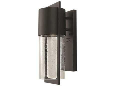 Hinkley Lighting Shelter Black LED Outdoor Wall Light HY1320BKLED