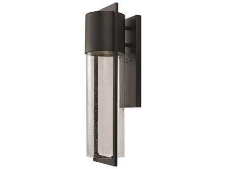 Hinkley Lighting Shelter Black LED Outdoor Wall Light HY1324BKLED