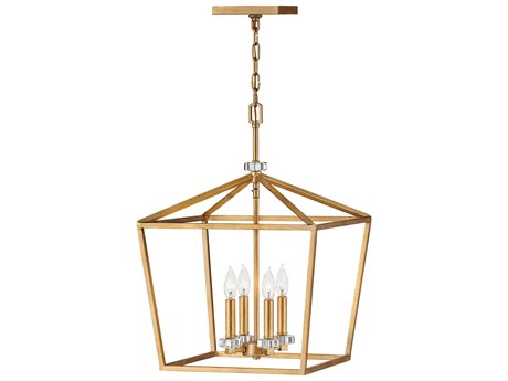 timeless design 75a71 39560 Hinkley Lighting Stinson Distressed Brass 16'' Wide Mini Chandelier