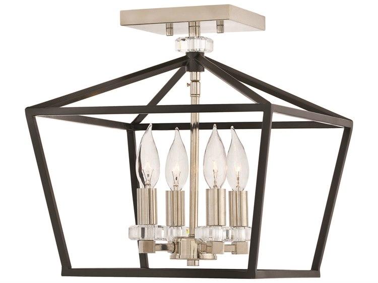 best website 10222 da1e7 Hinkley Lighting Stinson Black Four-Light 13'' Wide Semi-Flush Mount Light