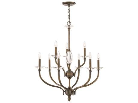Hinkley Lighting Surrey Oiled Bronze Nine-Light 30'' Wide Chandelier