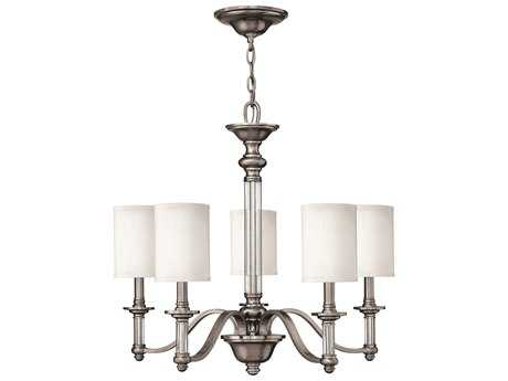 Hinkley Lighting Sussex Brushed Nickel Five-Light 26 Wide Chandelier HY4795BN