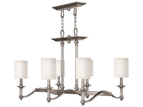 Hinkley Lighting Sussex Brushed Nickel Six-Light 22.75 Wide Chandelier HY4796BN