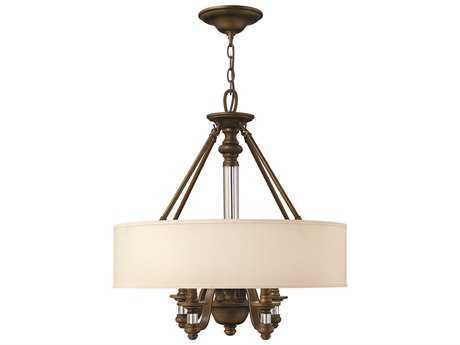Hinkley Lighting Sussex English Bronze Four-Light 23 Wide Chandelier HY4797EZ