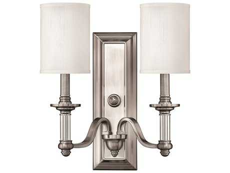 Hinkley Lighting Sussex Brushed Nickel Two-Light Wall Sconce HY4792BN