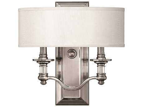Hinkley Lighting Sussex Brushed Nickel Two-Light Wall Sconce HY4900BN