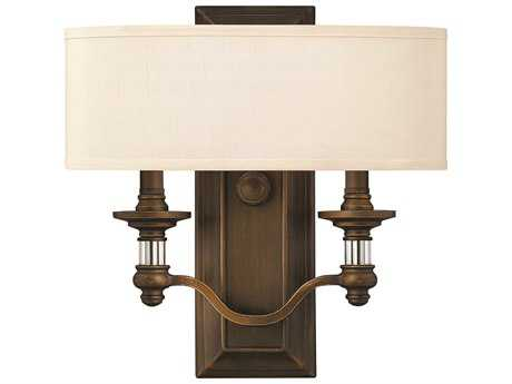Hinkley Lighting Sussex English Bronze Two-Light Wall Sconce