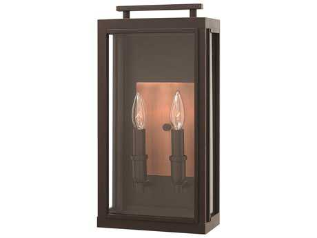 Hinkley Lighting Sutcliffe Oil Rubbed Bronze Two-Light Outdoor Wall Light HY2914OZ