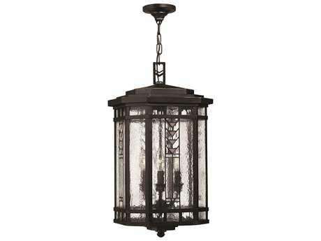 Hinkley Lighting Tahoe Regency Bronze Four-Light Outdoor Pendant Light